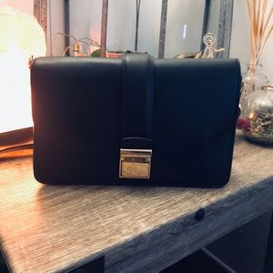 Crossbody bag with gold